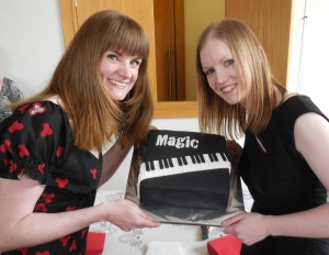 Aoife Chawke - cake baker and pianist extraordinaire at the launch of Magic